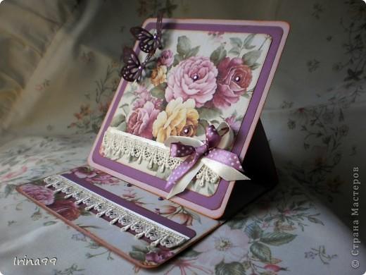 """Открытка в подарок.Сделала вот такую открыточку в подарок своей приятельнице. Так долго крутила разные картинки, а сделала вот просто из распечатанной бумажки...да ещё и надпись , ну никак  """" не прилепилась"""".....прилаживала со всех сторон....открытку ещё не отдала- может, дорогие мастерицы, подскажите что? С любовью к Вам! фото 2"""
