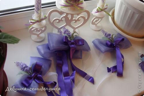 Лавандовая свадьба: украшение на автомобиль + Мастер-класс фото 44