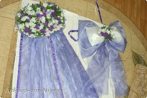 Лавандовая свадьба: украшение на автомобиль + Мастер-класс фото 19