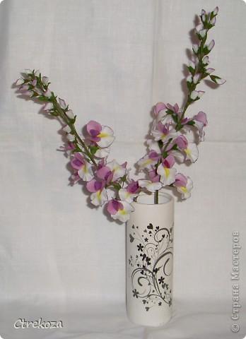 Композиция Орхидейное дерево (веточка) и Глициния (кисти) фото 2