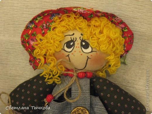 """Новая куклёшка Настенька,созданная по мастер-классу журнала""""""""Лена"""""""". фото 2"""