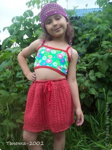 Вот и готова моя юбочка для младшей сестренки. Прошу очень строго не судить!!!!!!!!!!!!!!!!! фото 6