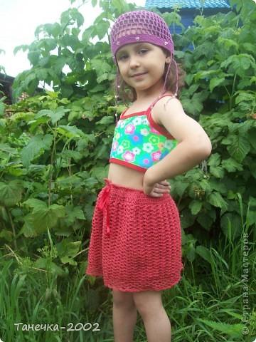 Вот и готова моя юбочка для младшей сестренки. Прошу очень строго не судить!!!!!!!!!!!!!!!!! фото 1