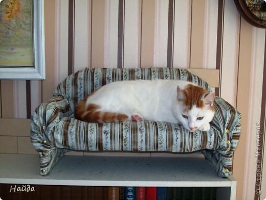 не помню,кто спрашивал-а что под обивкой дивана? Показываю -выпиливаем из оргалита остов дивана (30х50х15)  и стягиваем его на мебельные стяжки. степлером для мебели прикрепляем ленты из льна или прочного ситца. Этими лентами крепим поролон и моделируем будущую форму дивана. фото 5