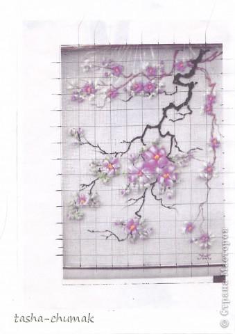 Вышивка лентами Сакура