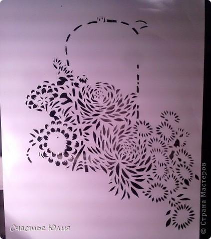 корзинка с цветами. повторяшка. фото 5