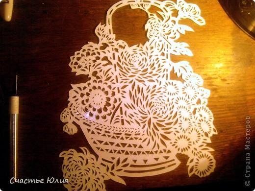 корзинка с цветами. повторяшка. фото 2