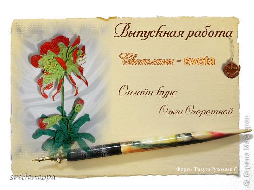 """А этот цветок сплетен в прошлом году  на """"Радуге рукоделий""""под руководством прекрасного куратора Олечки Очеретной. фото 2"""