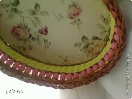 Здравствуйте!!! Сегодня решила Вам показать следующую плетёнку, сделанную вот в таких весёлых тонах. От предыдущей она не отличается ничем, разве что только формой и цветом. фото 2