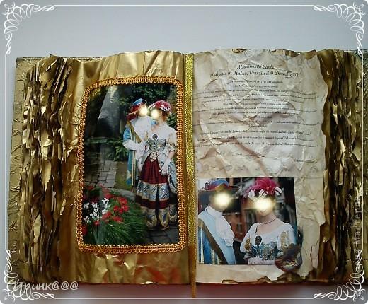 Попросила меня подруга сделать подарок своей сестре на годовщину свадьбы.Бракосочетание проходило в Венеции.выбрали из множества очень красивых фотографий несколько и работа закипела.........это обложка.... фото 5