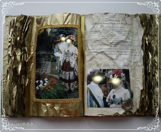 Попросила меня подруга сделать подарок своей сестре на годовщину свадьбы.Бракосочетание проходило в Венеции.выбрали из множества очень красивых фотографий несколько и работа закипела.........это обложка.... фото 6