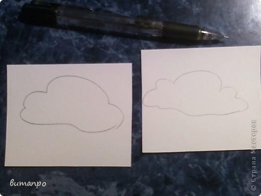 По просьбам друзей, я покажу как без акварели и карандашей,можно создать, и оформить картину с облаками,  как например здесь http://stranamasterov.ru/node/394313...  фото 2