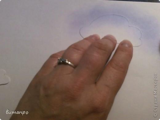 По просьбам друзей, я покажу как без акварели и карандашей,можно создать, и оформить картину с облаками,  как например здесь http://stranamasterov.ru/node/394313...  фото 7
