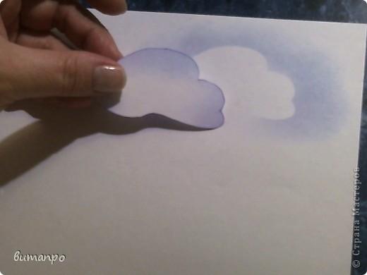 По просьбам друзей, я покажу как без акварели и карандашей,можно создать, и оформить картину с облаками,  как например здесь http://stranamasterov.ru/node/394313...  фото 8