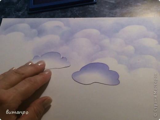 По просьбам друзей, я покажу как без акварели и карандашей,можно создать, и оформить картину с облаками,  как например здесь http://stranamasterov.ru/node/394313...  фото 12