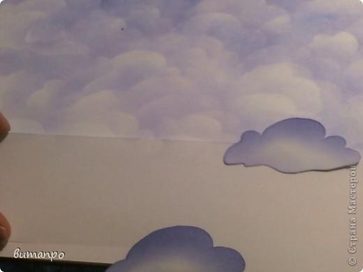 По просьбам друзей, я покажу как без акварели и карандашей,можно создать, и оформить картину с облаками,  как например здесь http://stranamasterov.ru/node/394313...  фото 13