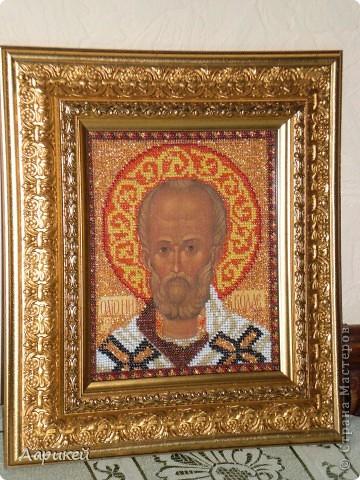 Св.Николай Угодник.Вышивка бисером. фото 1