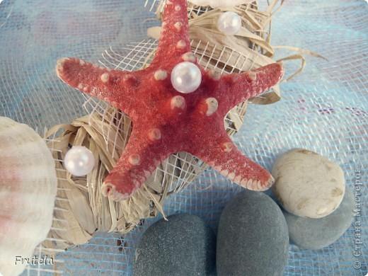 Такой веночек соорудила из ракушек,привезённых с отдыха на море) фото 3