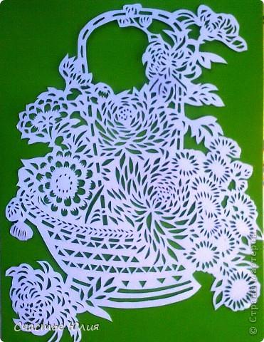 корзинка с цветами. повторяшка. фото 1