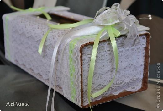 Сегодня я к вам не только с открытками, сотворенными по мотивам скрапа, но и с очередным свадебным наборчиком. Свадьба будет в лилиях и в цвете зеленого яблока! Для меня немного непривычный цвет, по этому - экспериментировала ))))  Бокалы для жениха и невесты фото 6