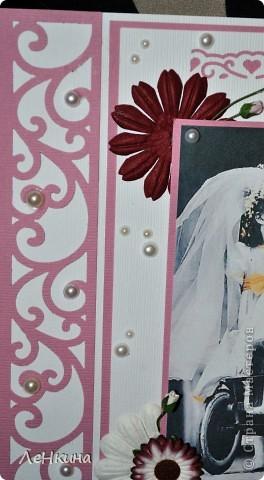 Сегодня я к вам не только с открытками, сотворенными по мотивам скрапа, но и с очередным свадебным наборчиком. Свадьба будет в лилиях и в цвете зеленого яблока! Для меня немного непривычный цвет, по этому - экспериментировала ))))  Бокалы для жениха и невесты фото 13