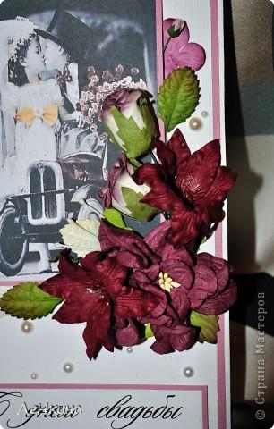 Сегодня я к вам не только с открытками, сотворенными по мотивам скрапа, но и с очередным свадебным наборчиком. Свадьба будет в лилиях и в цвете зеленого яблока! Для меня немного непривычный цвет, по этому - экспериментировала ))))  Бокалы для жениха и невесты фото 14