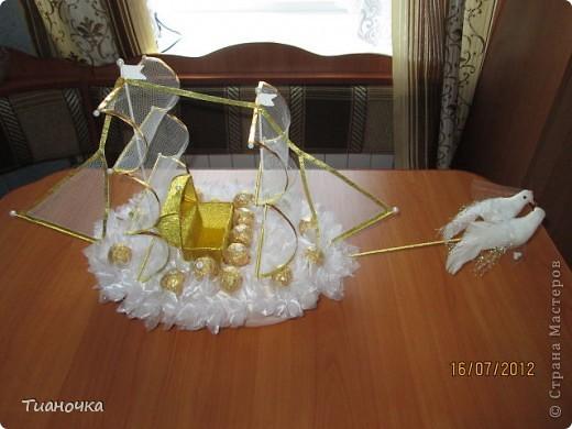 мой первый кораблик, он же свадебный. делалось с корабля Татьяны Мальцевой https://plus.google.com/photos/108392091231833518110/albums/5565374396409668097, так попросили фото 1