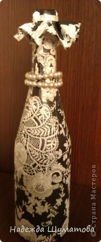 Изготовление подарочной бутылки фото 1