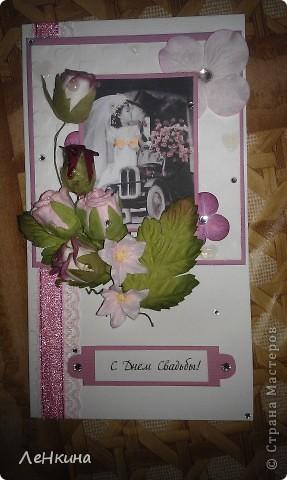 Сегодня я к вам не только с открытками, сотворенными по мотивам скрапа, но и с очередным свадебным наборчиком. Свадьба будет в лилиях и в цвете зеленого яблока! Для меня немного непривычный цвет, по этому - экспериментировала ))))  Бокалы для жениха и невесты фото 19