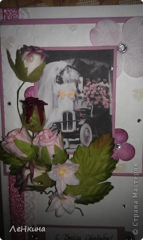 Сегодня я к вам не только с открытками, сотворенными по мотивам скрапа, но и с очередным свадебным наборчиком. Свадьба будет в лилиях и в цвете зеленого яблока! Для меня немного непривычный цвет, по этому - экспериментировала ))))  Бокалы для жениха и невесты фото 20