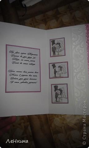 Сегодня я к вам не только с открытками, сотворенными по мотивам скрапа, но и с очередным свадебным наборчиком. Свадьба будет в лилиях и в цвете зеленого яблока! Для меня немного непривычный цвет, по этому - экспериментировала ))))  Бокалы для жениха и невесты фото 22