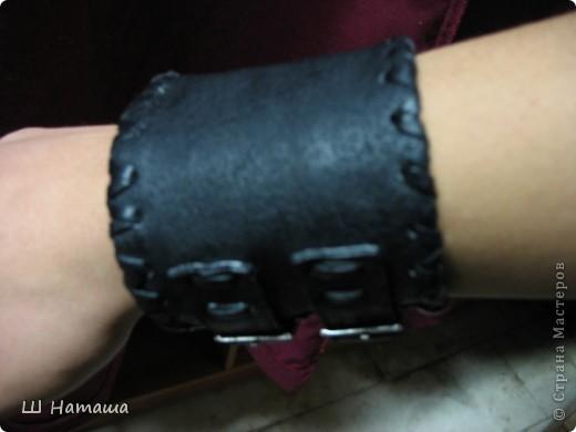 кожаный браслет фото 2