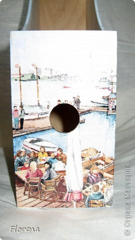 Журнальница в подарок мужу .А за что ?Просто так!)   Использовала : журнальницы из Икеи,салфетки,лак акриловый ,краски акриловые для подрисовки. фото 5