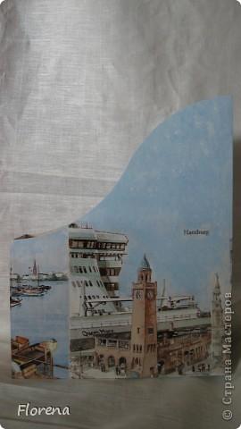 Журнальница в подарок мужу .А за что ?Просто так!)   Использовала : журнальницы из Икеи,салфетки,лак акриловый ,краски акриловые для подрисовки. фото 4
