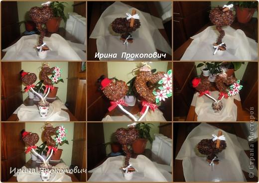Два влюбленных сердца )сделала на Серебрянную свадьбу) фото 3