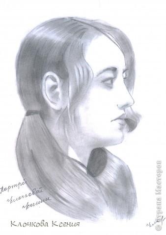 Давно это было.. В порыве вдохновения я нарисовала свой портрет. Это моя первая серьезная работа, до этого я почти не рисовала. фото 1