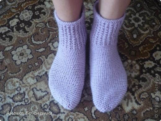 Вот такие носочки я себе связала. фото 1