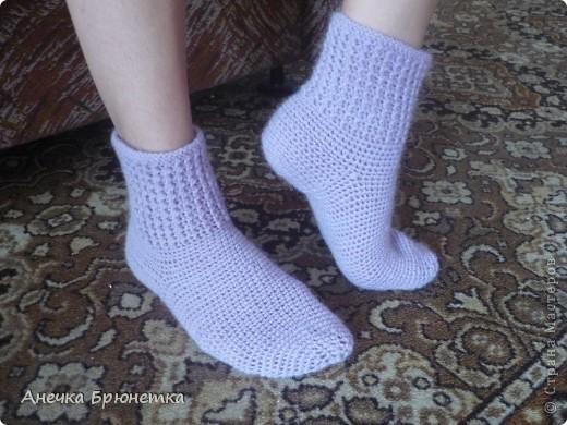Вот такие носочки я себе связала. фото 4