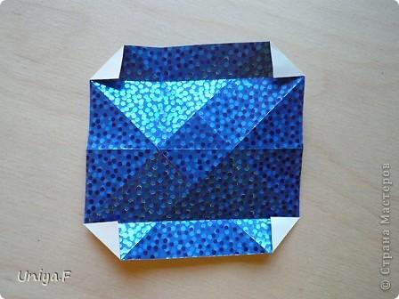 Здравствуйте!  Чтобы не откладывать в долгий ящик, выкладываю туториал на волшебника Мерлина.  Name: Merlin  Designer: Uniya Filonova  Units: 30  Paper: 10*10 cm  Final height: ~ 11,5 cm  Joint: no glue фото 10
