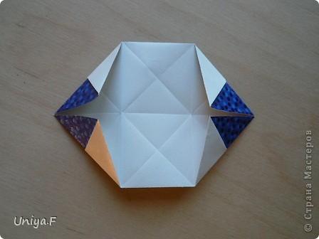 Здравствуйте!  Чтобы не откладывать в долгий ящик, выкладываю туториал на волшебника Мерлина.  Name: Merlin  Designer: Uniya Filonova  Units: 30  Paper: 10*10 cm  Final height: ~ 11,5 cm  Joint: no glue фото 12