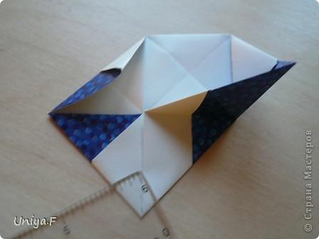 Здравствуйте!  Чтобы не откладывать в долгий ящик, выкладываю туториал на волшебника Мерлина.  Name: Merlin  Designer: Uniya Filonova  Units: 30  Paper: 10*10 cm  Final height: ~ 11,5 cm  Joint: no glue фото 13