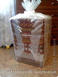 Доброго времени суток. Хочу показать вам корзину для белья. Сделала ее в подарок, но решила результатом поделиться с начала с вами. фото 12