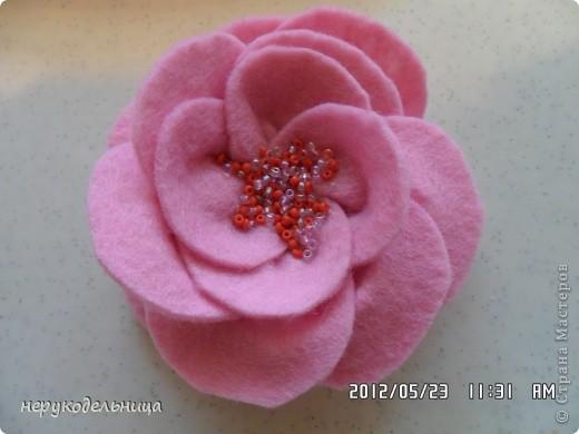 Дело было вечером.... цветочек из флиса сердцевина из сеточки. Делала для доченьки на беретку. фото 9