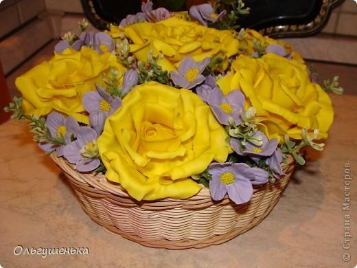 Композиция с желтыми розами фото 1