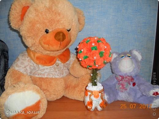Рядом с этим деревцем позируют теперь  уже мои постоянные помошники - модели медведь и кот!!!! фото 1