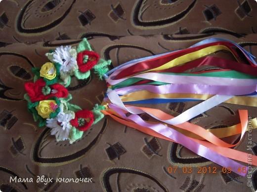 Венок для доции Викули на роль Весны в школе на праздник Масленицы фото 2