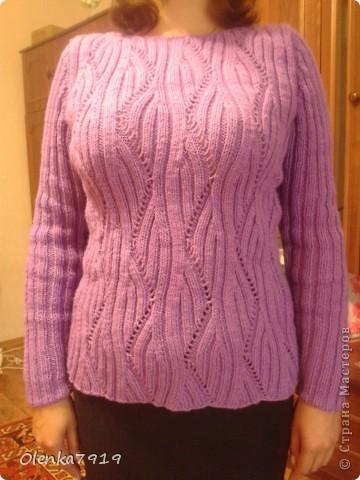 Вот такой получился свитерок. Хотела обновить гардероб к весне, но получилось к осени. фото 2