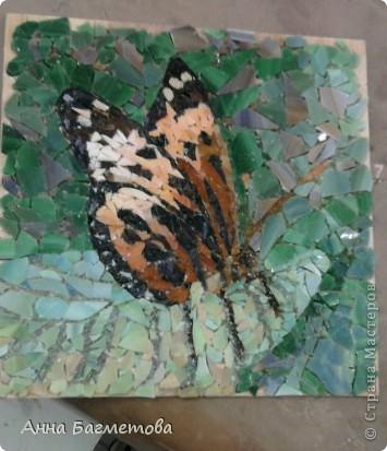 Бабочка, выполненная стеклом фото 1