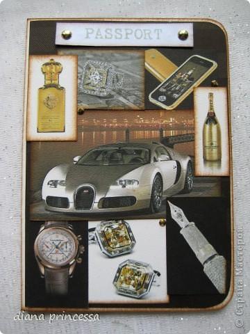 "обложка на паспорт ""мужская"" фото 1"
