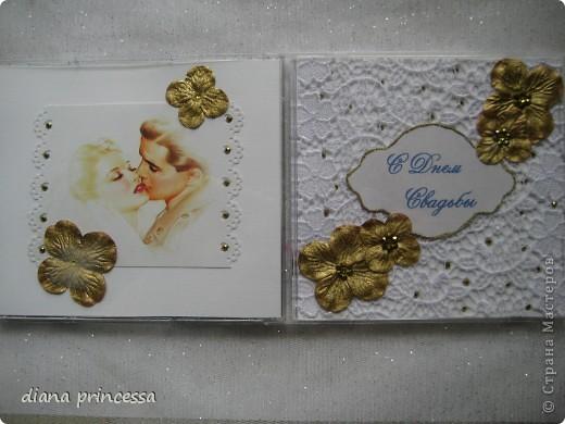 """коробочка для диска """"свадьба"""" фото 2"""